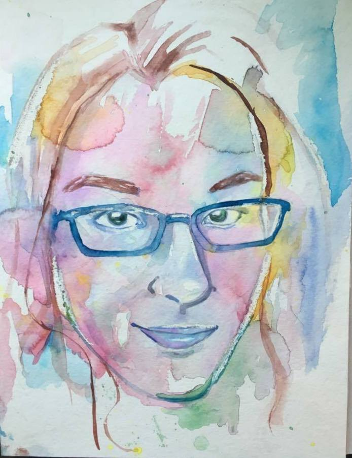 It me! Calamity Jay watercolor portrait (Janet Jay)
