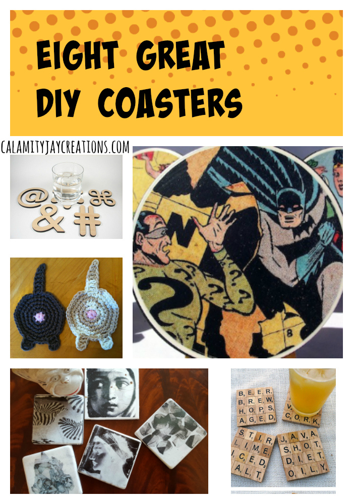 8 Dead Simple DIY Coasters pinterest collage big