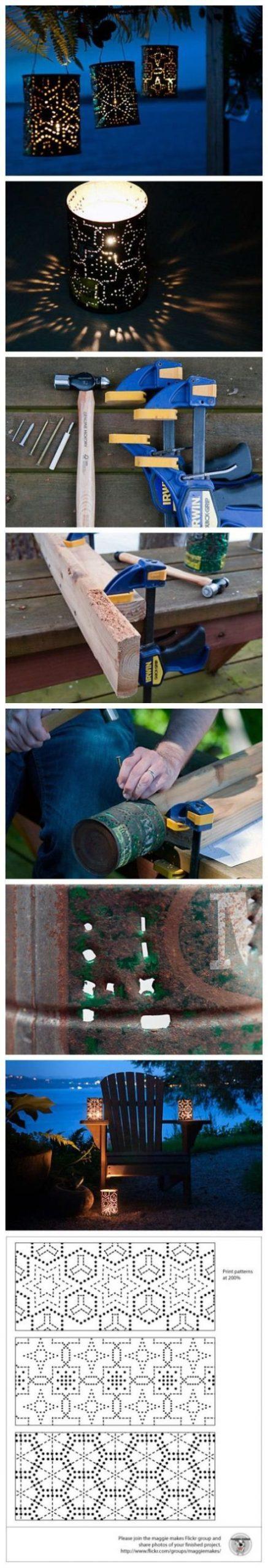 Tin Can Lantern DIY