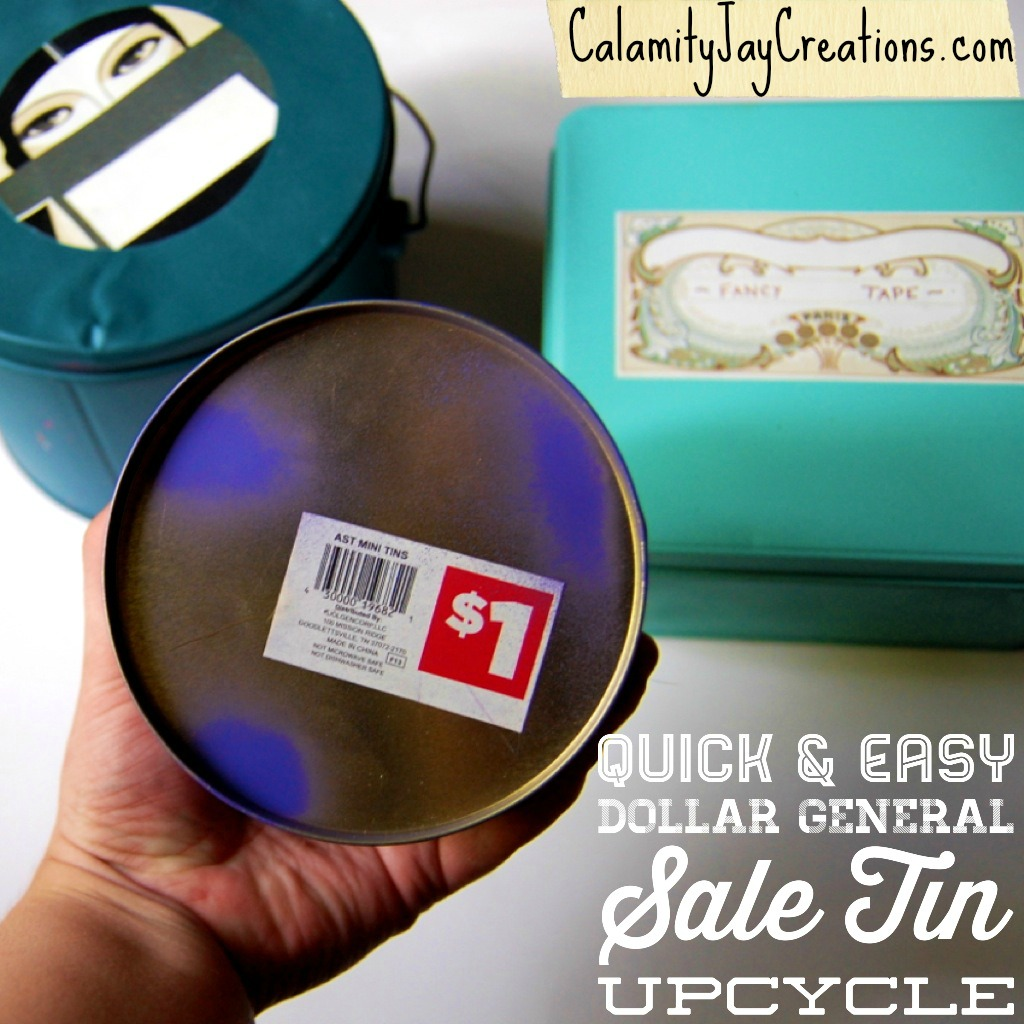 Bright colors quick easy dollar general sale cookie tin upcycle redo