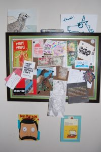 All my crap on my new corkboard